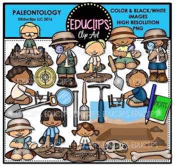 Earth Science-Rocks & Fossils Clip Art Big Bundle  {Educlips Clipart}