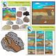 Earth Science Clip Art Bundle - 108 Piece Geology Set - Color and Blackline