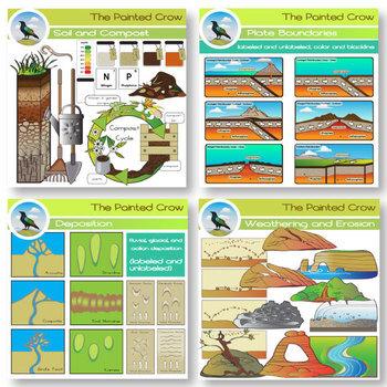 Earth Science Clip Art Mega Bundle - Geology - 254 Graphics