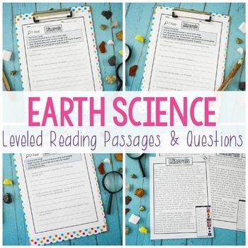 Earth Science Close Reading: Minerals, Rocks, Erosion, Soi