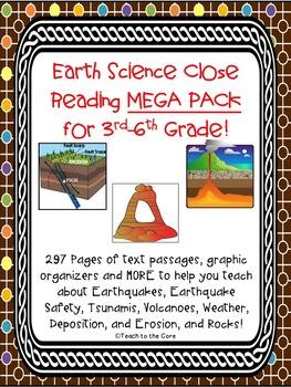 Earth Science Close Reading MEGA PACK Gr. 3-6
