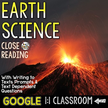 Earth Science Close Reading Passages for Google Classroom