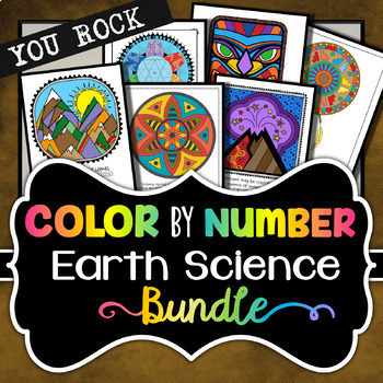 Earth Science - Color by Number Bundle (Save 30%)
