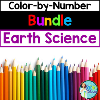 Earth Science Color-by-Number Growing Bundle
