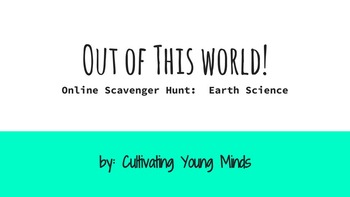 Earth Science Computer Scavenger Hunt