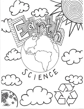 Earth Science Cover Page Coloring Page By Megan Escobar Tpt