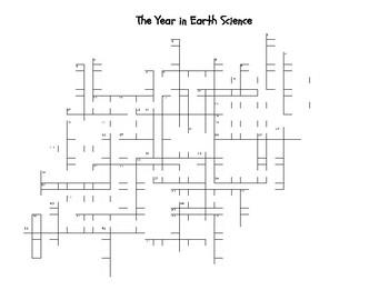 Earth Science Crossword Puzzle
