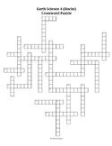 Earth Science Crossword Puzzle 4 - Rocks