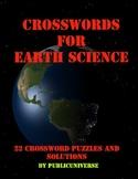 Earth Science Crossword Puzzle Book