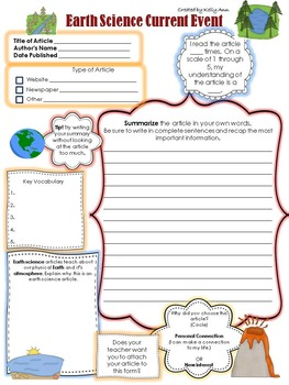Current Event - Earth Science