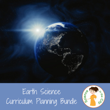 Earth Science Planning Bundle: Pacing Guide, Student Learning Targets, and Vocab