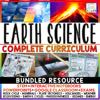 Earth Science Curriculum Distance Learning | Environmental Science  (Complete)