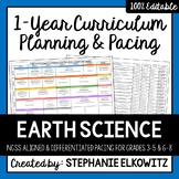 Earth Science Curriculum Differentiated Planning and Pacing Guide