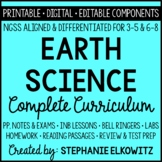 NGSS Earth Science Curriculum - Printable, Digital & Editable Components
