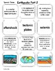 Earth Science EARTHQUAKES 2 Vocabulary Set