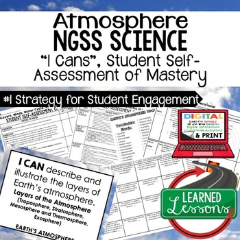 Atmosphere, Weather I Cans, Posters, Earth Science I Cans NGSS