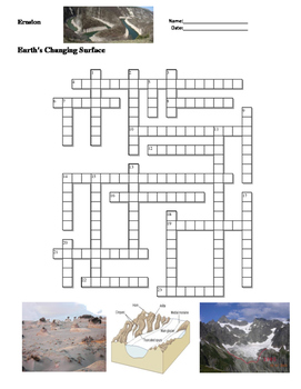 Earth Science - Earth's Changing Surface - Erosion - Crossword Puzzle