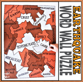 Earth Science Natural Disasters - Earthquake Word Wall Puzzle