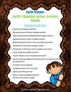 Earth Science: Rocks, Minerals, Weathering and Erosion Activities Bundle