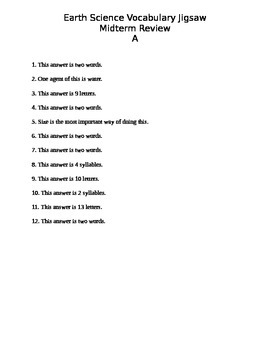 Earth Science Erosion, Deposition, and Earthquakes Vocabul