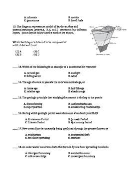 Earth Science Exam