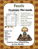 Earth Science FOSSILS Vocabulary mini-bundle