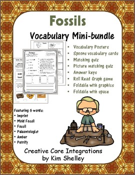 Earth Science FOSSILS Vocabulary mini-bundle