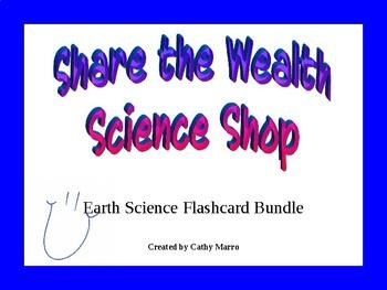 Earth Science Flashcard Bundle