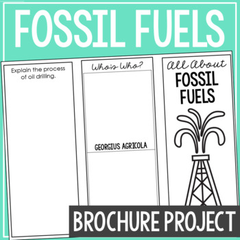 fossil fuels earth science research brochure template project