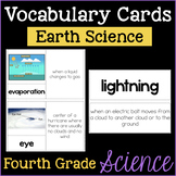 Earth Science Fourth Grade Science Vocabulary Cards