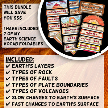 Earth Science - Frayer Model Foldable - BUNDLE
