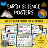 Earth Science & Geography Bulletin Board Classroom Posters
