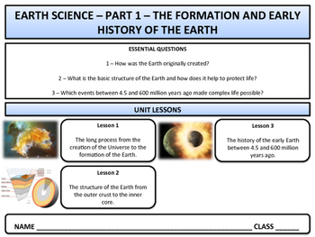 Early History of the Earth - Earth Science & Geography - Unit 1