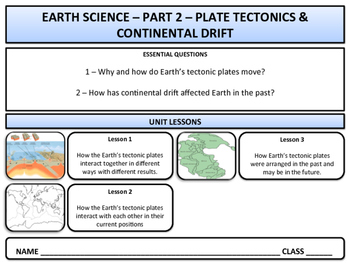 Earth Science & Geography - Unit 2 - Plate Tectonics & Continental Drift