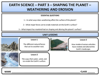 Weathering and Erosion - Earth Science & Geography - Unit 3 -