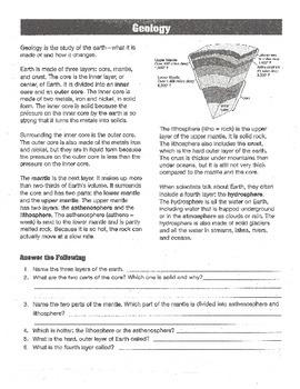 Earth Science - Grades 4-6