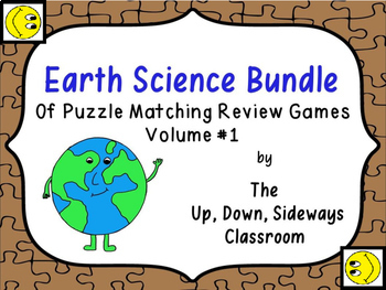 Earth Science Bundle of Puzzle Matching Review Games Vol #1