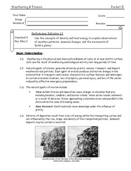 ESworkbooks Guided Inquiry 08 Weathering