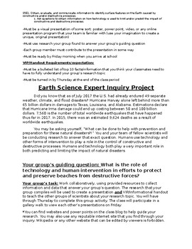 Earth Science Inquiry Project - Constructive/Destructive Forces
