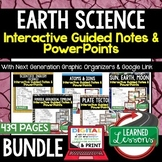 Earth Science Guided Notes & PowerPoints NGSS BUNDLE Google, Interactive