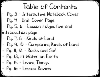 Earth and Sky Lesson 1 Interactive Notebook