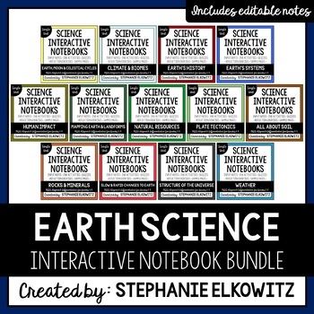Earth Science Interactive Notebook Bundle (Differentiated)