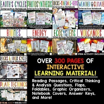 Earth Science Interactive Notebooks | Earth Science Distance Learning