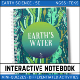 Earth's Waters Earth Science Interactive Notebook - Distance Learning