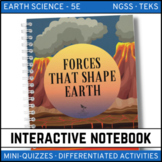 Forces That Shape the Earth Science Interactive Notebook - Distance Learning