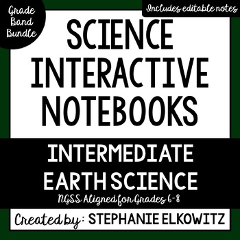 Intermediate Earth Science Interactive Notebook Bundle