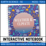 Weather and Climate Earth Science Interactive Notebook - Distance Learning