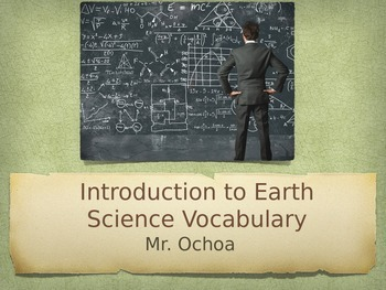 Earth Science Introduction Vocabulary