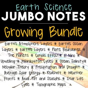 Earth Science JUMBO Notes GROWING BUNDLE!