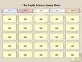 Earth Science Jeopardy 1